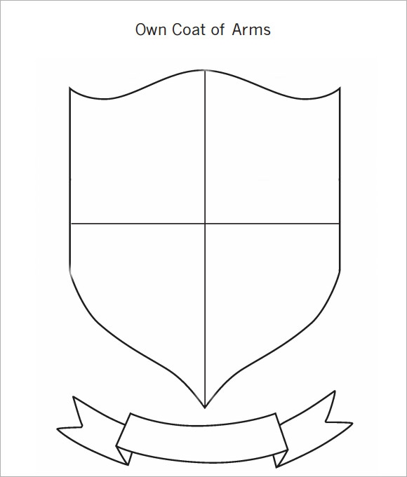 Worksheets Coat Of Arms Worksheet blank coat of arms worksheet template with banner clipart best coat