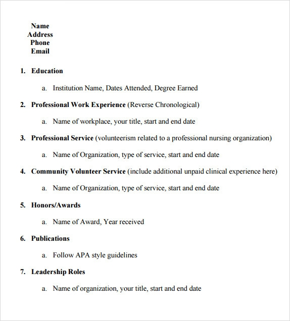 College Resume Templates - Templates