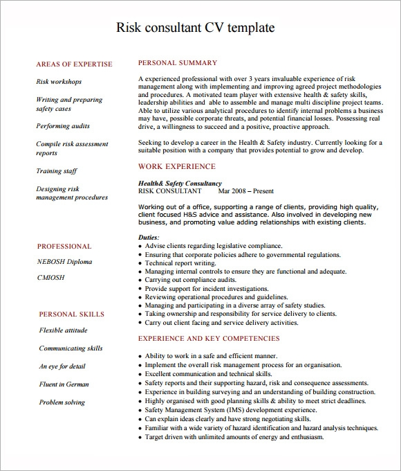 6 consultant resume samples sample templates