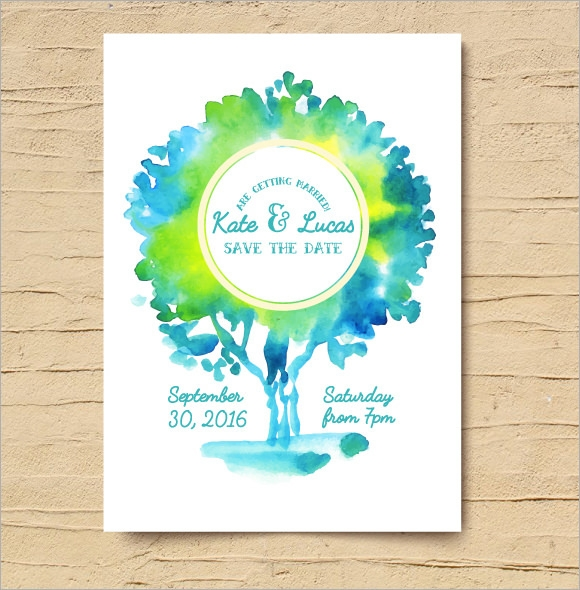 creative save the date template
