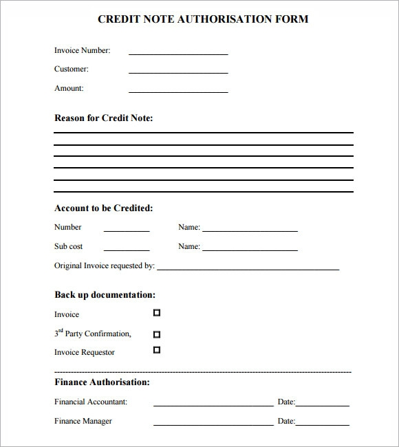 Sample Credit Note 4 Documents In Pdf Psd Word