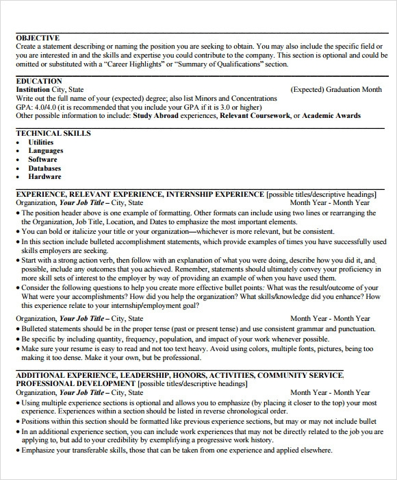 Resume Template Examples Of A Easy Free Resumes Within Basic MyPerfectResume  Com  My Perfect Resume.com