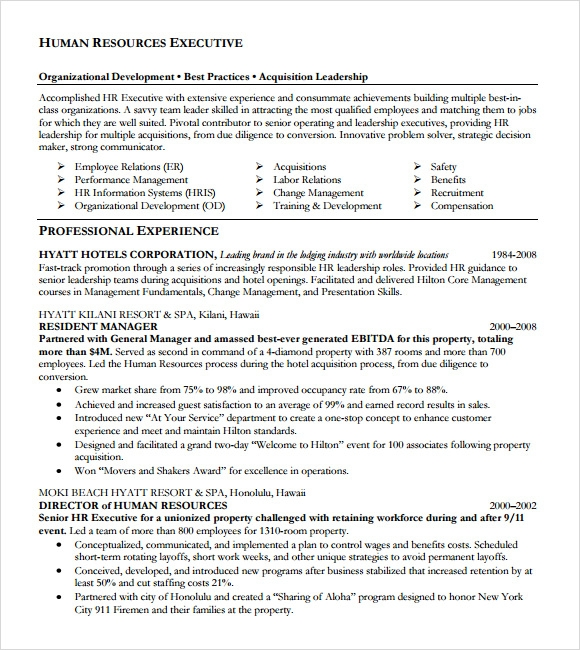 executive chef resume template .