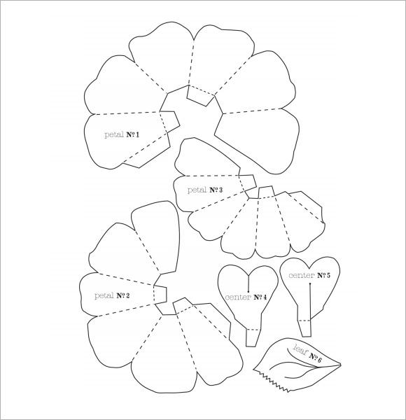 Flower Petal Template | Flower Petal Template Pdf Flowers Healthy