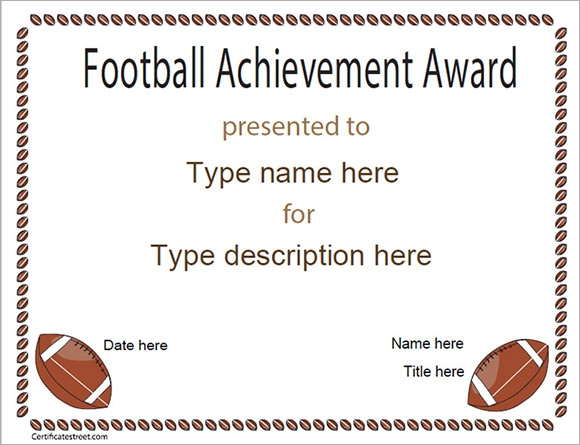 Football Certificate Template - 7+ Download Documents in ...
