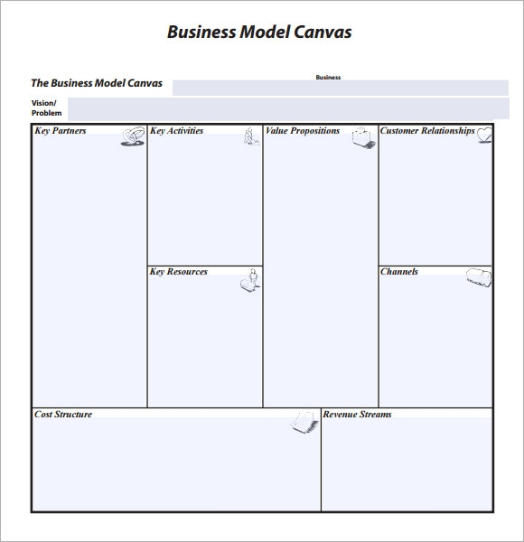 Business model canvas template accmission Choice Image