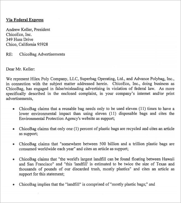 Sample Cease and Desist 7 Documents in PDF Word – Cease and Desist Template Trademark
