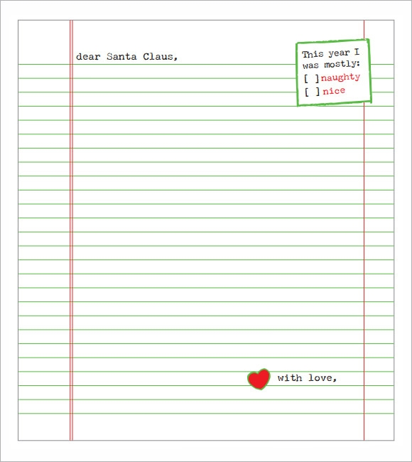 Santa Letter Template - 7+ Download Free Documents in PDF , Word ...