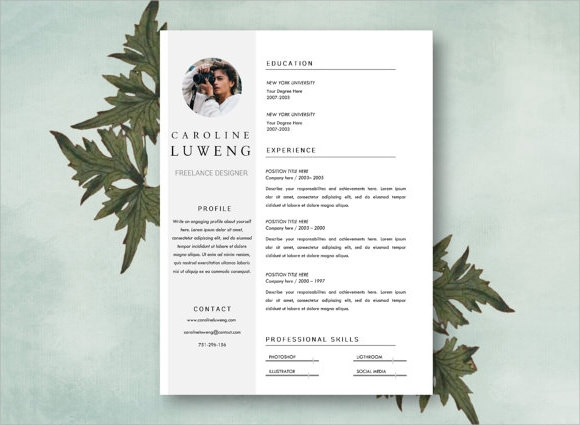 Freelance Photography Resume Example