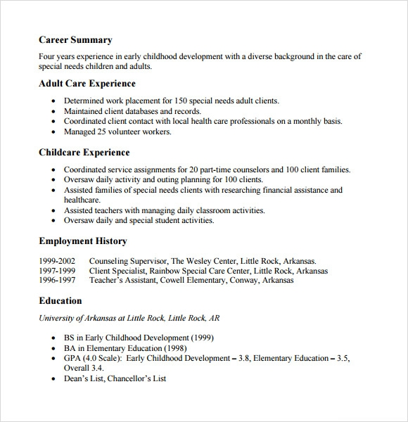 6+ Sample Functional Resumes