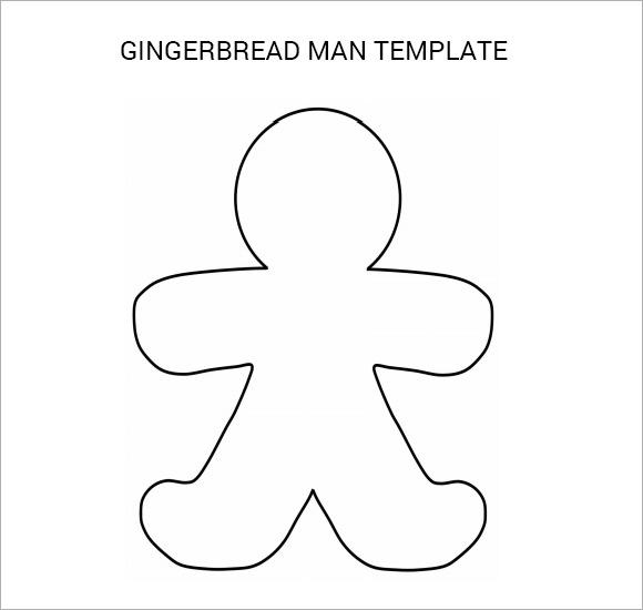 gingerbread man template printable