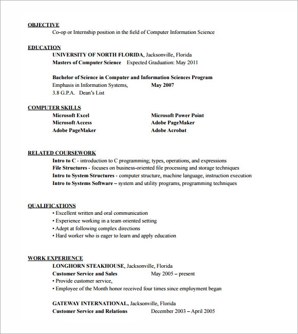 sample hvac resume