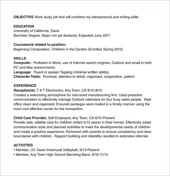 resume templates for internships resume format download pdf - Resume Templates For Internships