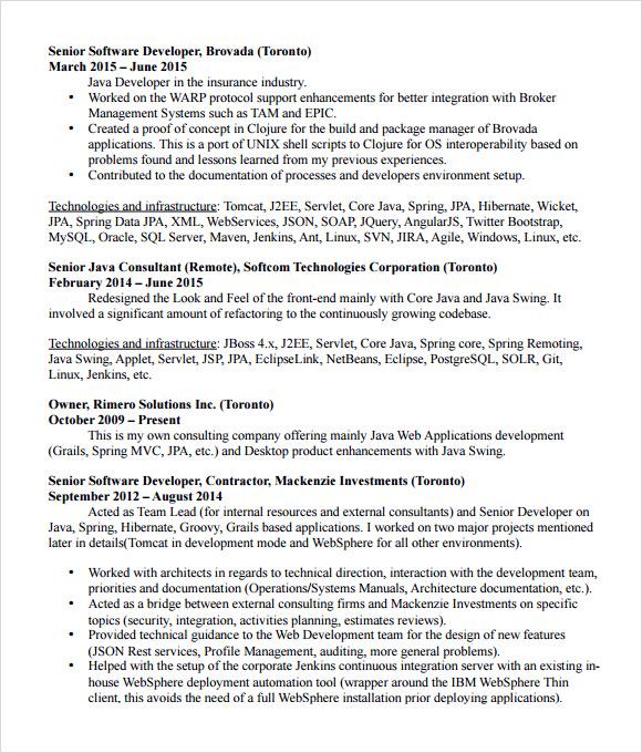 resume java pdf