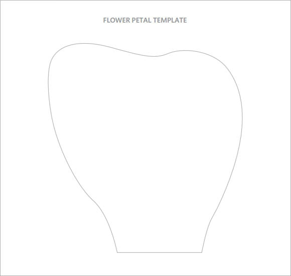 10 beautiful sample flower petal templates sample templates for Big flower paper template