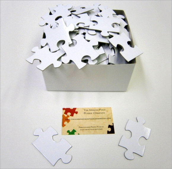 large puzzle piece template