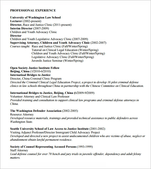 Sample Lawyer Resumes – Lawyer Resume