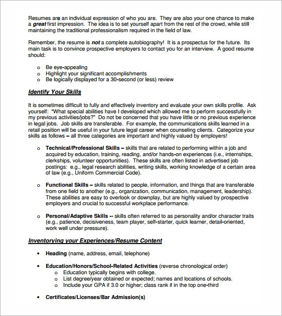 lawyer resume templates 5 free documents in