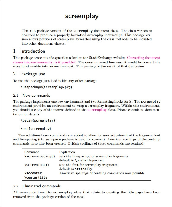 microsoft word screenplay template - 6 screenplay samples sample templates