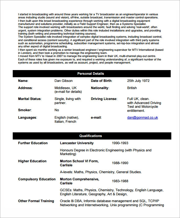free 5  sample network engineer resume templates in pdf