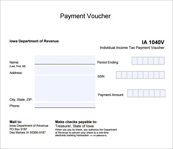 Payment Voucher Sample 7 Documents in PDF – Sample Voucher Template
