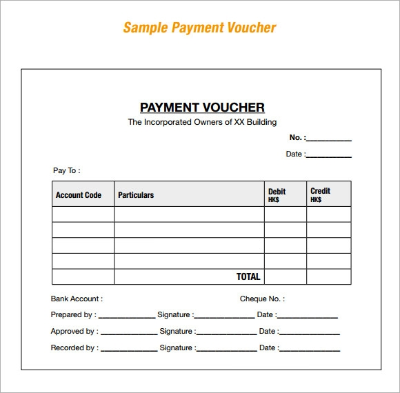 8 Sample Payment Vouchers Sample Templates
