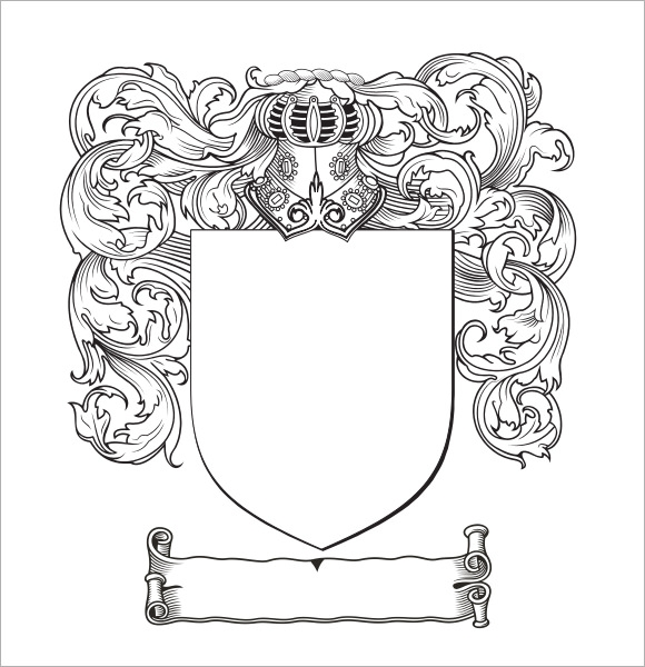 Coat of Arms Template - 12+ Download in PDF, PSD, EPS Vector ...