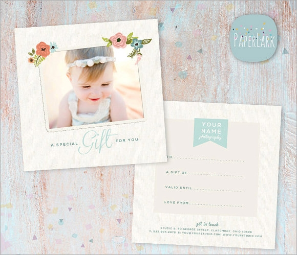 12 sample attractive photography gift certificate templates sample photography gift certificate psd yelopaper Gallery