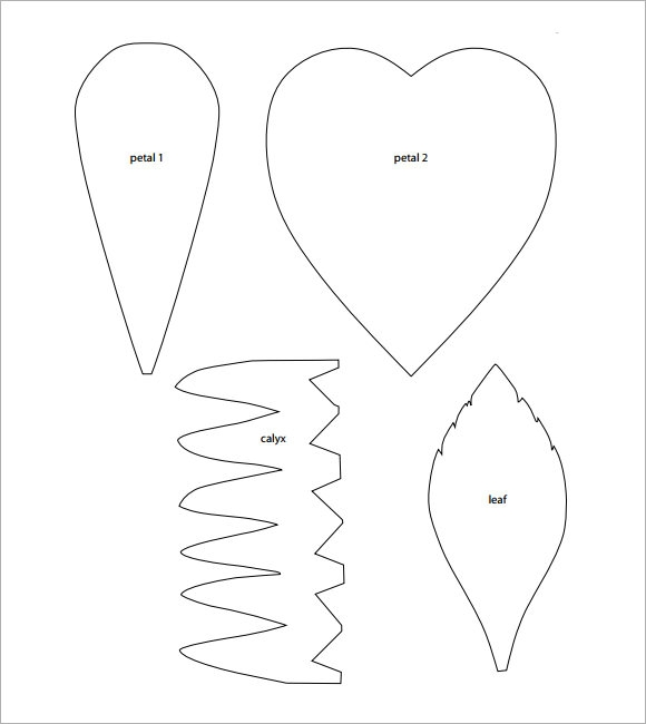 image relating to Printable Flower Petal Template Pattern known as Totally free 9+ Desirable Pattern Flower Petal Templates inside PDF PSD