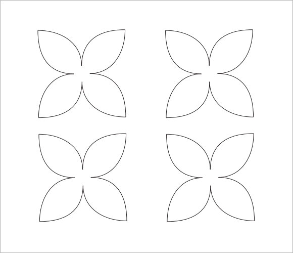 photograph relating to Printable Flower Petals referred to as Cost-free 9+ Appealing Pattern Flower Petal Templates inside PDF PSD
