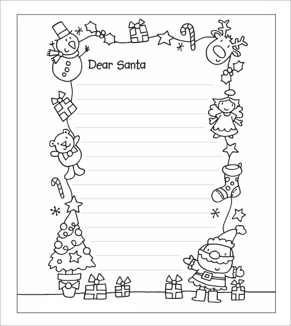 Epic image regarding printable santa letter