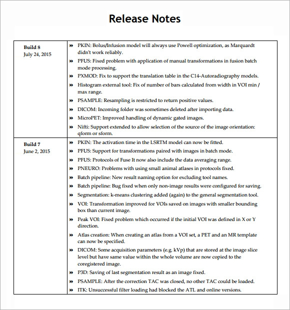 Sample Release Note - 5+ Documents In Pdf, Word