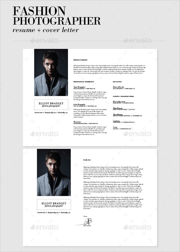 resume with photo template photography resume template