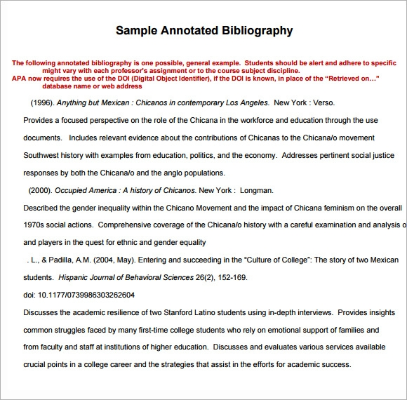 Writing an Annotated Bibliography � Reading/ Writing