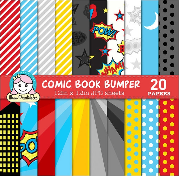 sample comic book template