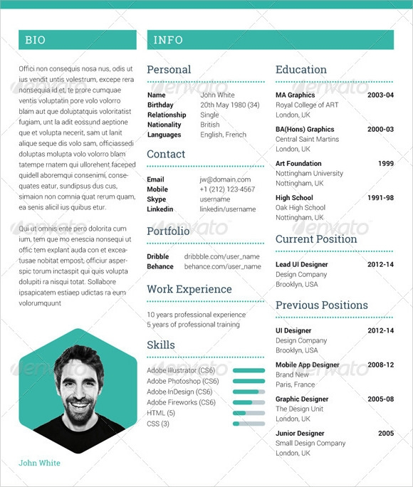 7 sample photographer resume templates to download
