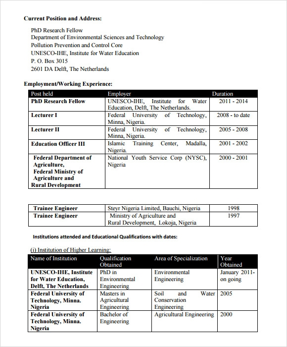 sample resume for agriculture graduates - Agricultural Engineer Sample Resume