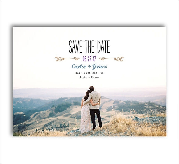 Save The Date Template Simple Wedding Save The Date Card Template
