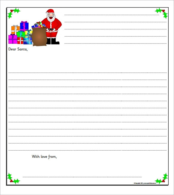 Santa Letter Template   Download Free Documents In Pdf  Word