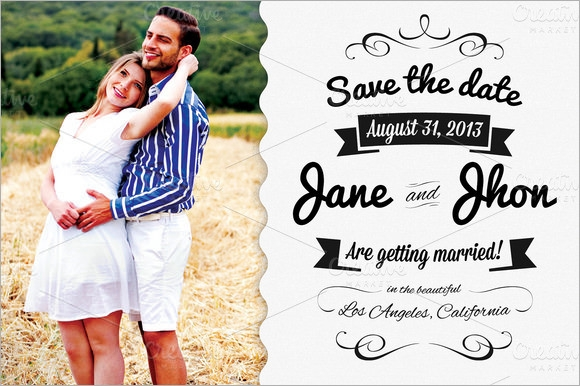 save the date template download