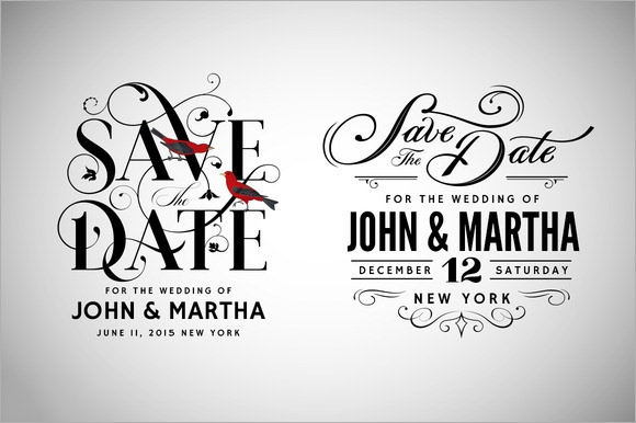 10 Sample Save the Dates PSD Vector EPS – Save the Date Template