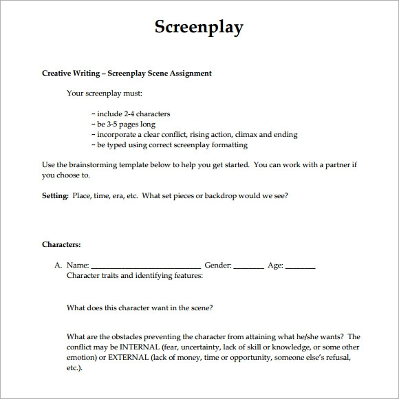 Cover letter screenplay