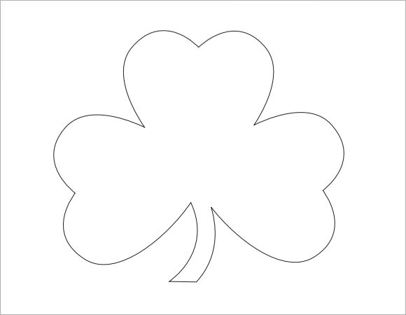 Striking image inside printable shamrock templates
