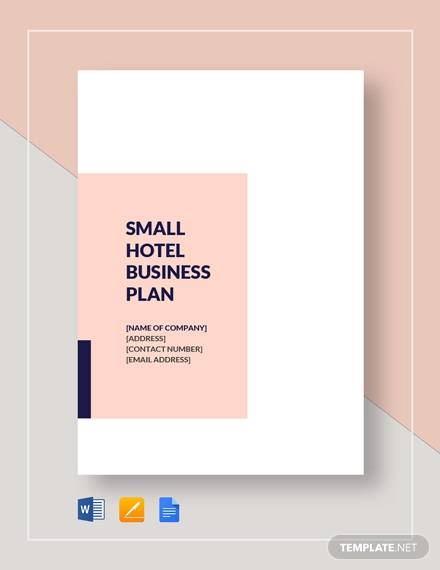 small hotel business plan