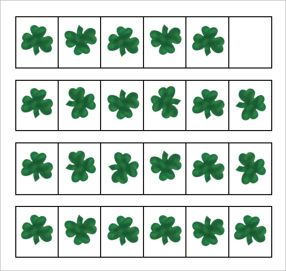 Sample shamrock 8 documents in pdf word small shamrock template printable pronofoot35fo Choice Image