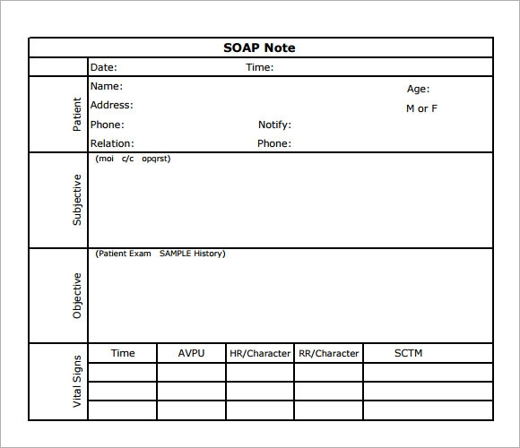 printable soap note templates .