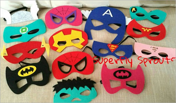 Sample superhero mask 6 documents in psd pdf vector - Masque de superman ...