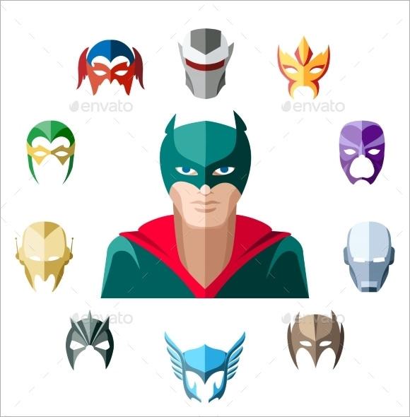 superhero mask pattern2