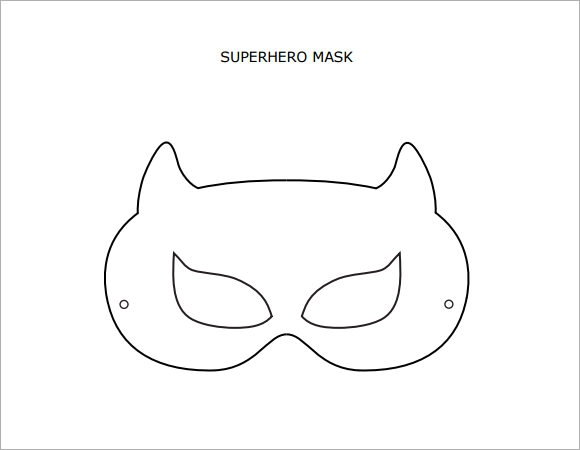 picture relating to Printable Mask Templates called Totally free 6+ Superhero Mask Samples in just PSD PDF Vector
