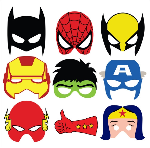 image regarding Printable Superhero Masks identified as Free of charge 6+ Superhero Mask Samples within just PSD PDF Vector